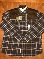 NWT Mens FIELD & STREAM Navy Sherpa-Lined Flannel Shirt Jacket Sz Small S $100