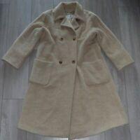 Max Mara 10UK Luxurious Alpaca/Wool Beige Ladies Coat Womens *Made in Italy*