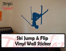 Ski Jump & Flip Vinyl Wall Sticker
