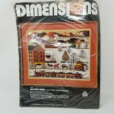 "Dimensions 2126 Charles Wysocki Needlepoint Kit ""Holiday Train� 1980 Vintage"