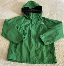 The North Face Boys Green Hooded Rain Jacket Small 7-8