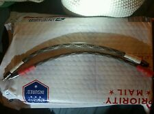 New listing 1 Ft. Rg-59 Belden 1505A Cable with Rca Compression Connector & Techflex