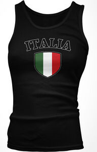 Italia Italy Flag Crest Italian National Country Pride Boy Beater Tank Top