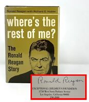 Ronald Reagan - Where's the Rest of Me? - SIGNED 1st 1st 1965 - Presidential