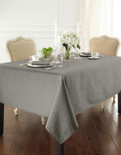 """WATERFORD LINENS Sarah NEW 70"""" ROUND TABLECLOTH in Platinum Gray"""