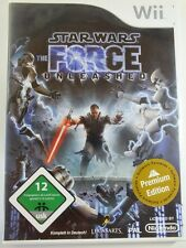 NINTENDO Wii gioco Star Wars Forza scatenato, usato ma BENE