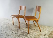 1960's Scandinavian mid century plywood stacking chair (30 available)