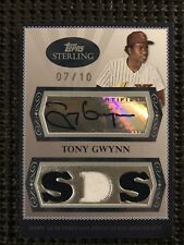2008 Topps Sterling Tony Gwynn Game Used Autograph 7/10 w/ Box And 3 Cards