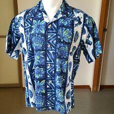 New listing 1950s Vintage Tiki Hawaiian Shirt Ui-Maikai L