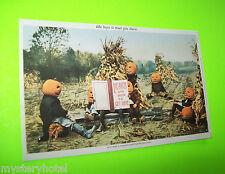 Halloween Postcard 1993 Is There A Heaven For Pumpkinheads? KEN BROWN Great Art