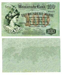- Paper Reproduction - Weimarische Bank Germany 100 marks 1874     653