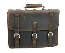 "Vagarant Traveler 17"" MacBook Pro Bag  Full Leather Briefcase Backpack LB06.DB"