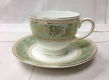 """WEDGWOOD """"COLUMBIA SAGE GREEN"""" LEIGH TEACUP & SAUCER BRAND NEW MADE IN ENGLAND"""