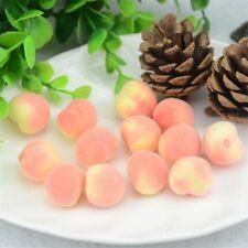 30pcs Mini Peach Foam Artificial Fake Fruit Vegetable Home Wedding Deco