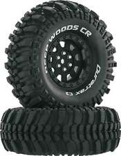 "Duratrax 4026 Deep Woods CR 1.9"" Crawler Tire C3 Mounted on Black Wheels (2)"