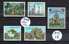 GREAT BRITAIN    ISLE of MAN Stamps  #105 - 112   #8-11, #28  1977 & 78   Lot 18