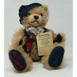 Old Heidelberg Collectible Teddy Bear by Hermann Germany Growler Boxed