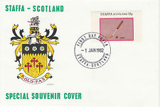GB Locals - Staffa 3821 - 1982 SPORTS - FIELD HOCKEY 15p perf single on FDC