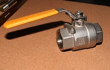 """PMP model A201-032016602 1 1/4"""" ball valve 1000 WOG CF8M stainless, 2-m warranty"""