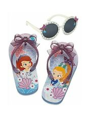 Disney Store Sofia the First Flip Flop Sandals & Sunglasses Set for Girls NEW