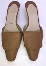 9567cdb2775c CHRISTIAN LOUBOUTIN WOMEN'S SHOES TAN POINTED TOE LEATHER UPPER US SIZE 6.5  M