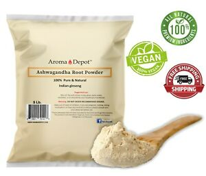 5lb. Ashwagandha Root Powder Withania comnifera Indian gindeng aswaganda Herb