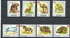 Königreich Jemen MiNr 772A-779A Internationales Tierschutzjahr (II) Antilope u.a