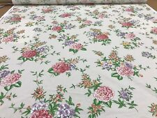 BAILEY & GRIFFIN UK HAND PRINT chintz fabric BEAUVAIS floral WHITE Stunning!