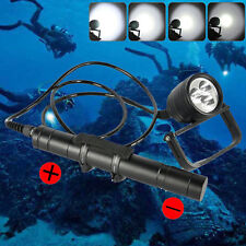 DIV10 3000LM Pro Diving Flashlight 3xXM-LU2 LED Canister 150M Scuba Light 5 Mode