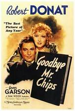 GOODBYE MR. CHIPS Movie POSTER 27x40 Robert Donat Greer Garson Paul Henreid John