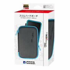 Hori JAPAN Nintendo 2DS LL Official Licensed Slim Hard Pouch Case Black Blue