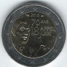 Pièce 2 euros commémo France 2010 (Appel 18 juin)