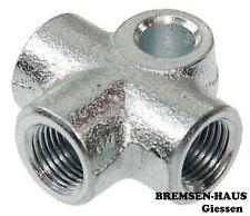 1x T Stück Verbinder Verteiler, 3-fach, M10 x 1, Bördel F, Bremsleitung 4,75mm
