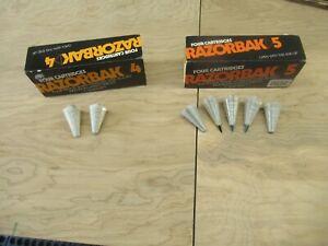 Arrowheads Razorbak Cartridges 5 Blade & 4 Blade Broadheads Box 7 Pcs