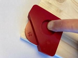 2 Piece Router 4 Corner Radius Jig - Corners Of 10mm, 15mm, 20mm and 25mm