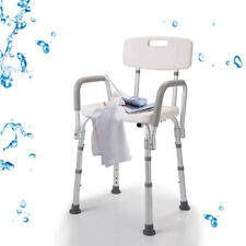 Height Adjustable Medical Shower Chair Bathtub Bench Bath Seat Stool With Arms