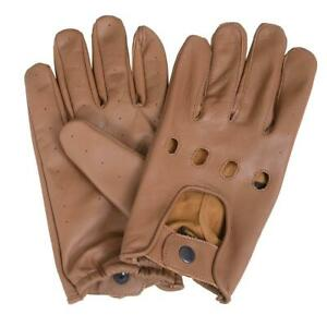 Leather Driving Motorcycle Gloves Men 5 colors & sizes Small to 3XL Available.