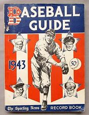 1943 TSN OFFICIAL BASEBALL GUIDE