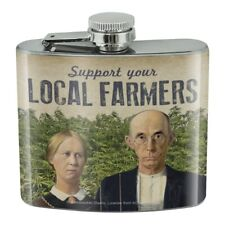 New listing Support Your Local Marijuana Farmers Stainless Steel 5oz Hip Drink Flask
