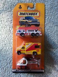 Matchbox - 3-Piece Gift-Set - Emergency - Fire Truck / Ambulance / Helicopter