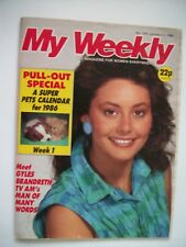 Vintage My Weekly Magazine, January 11th 1986, issue 3761