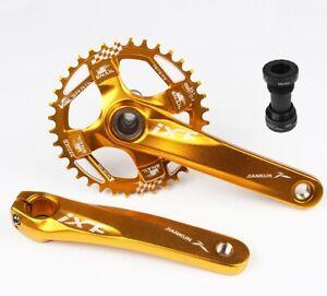 IXF MTB Bike Crankset 170+BB Narrow-Wide Single Chainring R32-38T O32-36T Gold