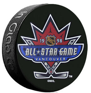 1998 Vancouver NHL All-Star Game Logo InGlasco Hockey Puck - Canucks