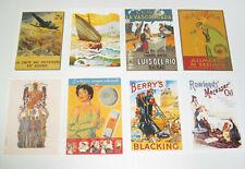 Lot de 8 Carte Postale Reproduction Affiche Publicitaire Ancienne Pub k