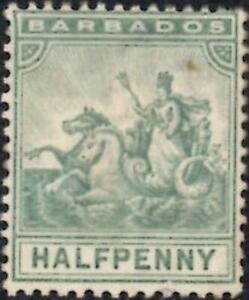 Barbados 1896 QV 1/2d Dull Green  SG.106 Mint (No Gum)