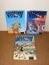 3 Albums bande dessinée BD - E.O - CHASSEURS D' ETOILES (1, 2, 3) - DUPUIS