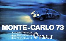ALPINE RENAULT Rallye Monte Carlo WM 1973 Poster