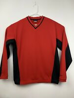 Nike Golf Therma V-Neck Long Sleeve Pullover Red Jacket Large