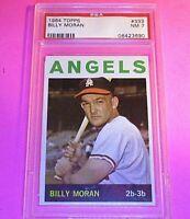 1964 Topps #333 Billy Moran Angels, PSA 7 NM NrMt