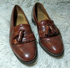 Vintage Johnston & Murphy Passport Tassels Oxford Wing Tip Men's Size 10 Brown
